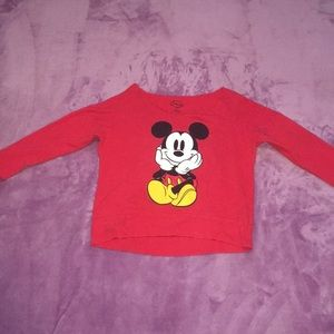 Mickey Mouse long sleeve Crop top